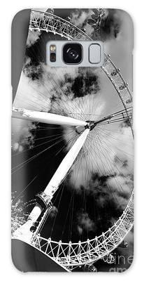 London Ferris Wheel Bw Galaxy Case