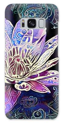 Galaxy Case featuring the mixed media Lotus From The Mud by Susan Maxwell Schmidt