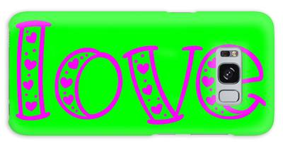 Galaxy Case featuring the digital art Love In Magenta And Green by Bee-Bee Deigner