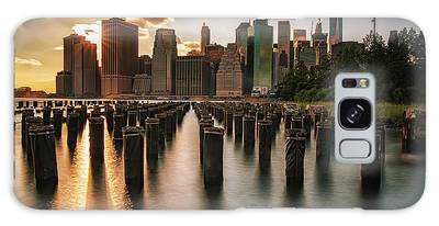 Lower Manhattan Sunset Twinkle Galaxy Case