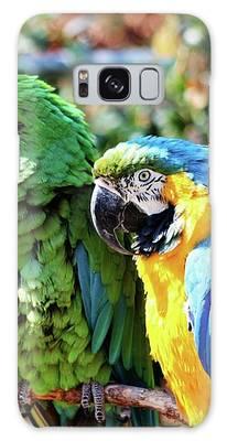 Macaw Parrots Galaxy Case by Cynthia Guinn