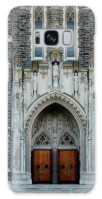 Galaxy Case featuring the photograph Main Entrance To Chapel by Cynthia Guinn