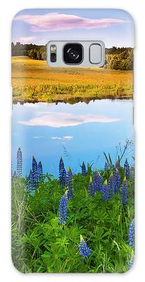 Galaxy Case featuring the photograph Maine Field Of Lupines by Ranjay Mitra