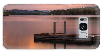 Galaxy Case featuring the photograph Maine Highland Lake Boat Ramp At Sunset by Ranjay Mitra