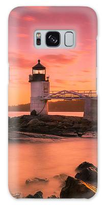 Maine Lighthouse Marshall Point At Sunset Galaxy Case by Ranjay Mitra