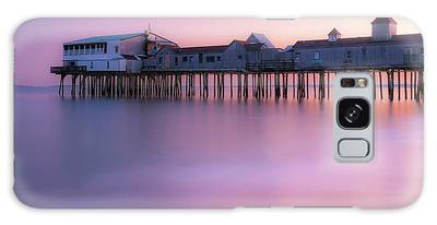 Galaxy Case featuring the photograph Maine Oob Pier At Sunset Panorama by Ranjay Mitra