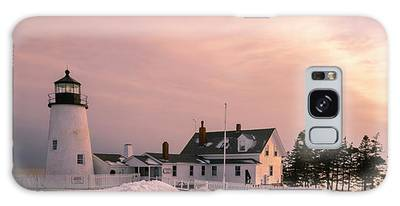 Galaxy Case featuring the photograph Maine Pemaquid Lighthouse After Winter Snow Storm by Ranjay Mitra