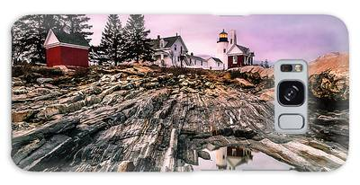 Galaxy Case featuring the photograph Maine Pemaquid Lighthouse Reflection In Summer by Ranjay Mitra