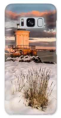 Galaxy Case featuring the photograph Maine Portland Bug Light Lighthouse Sunset  by Ranjay Mitra