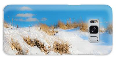 Galaxy Case featuring the photograph Maine Snow Dunes On Coast In Winter Panorama by Ranjay Mitra