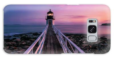 Galaxy Case featuring the photograph Maine Sunset At Marshall Point Lighthouse by Ranjay Mitra