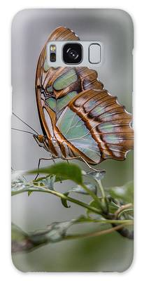 Galaxy Case featuring the photograph Malachite Butterfly Profile by Patti Deters