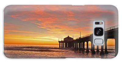 Beach Sunset Galaxy Cases
