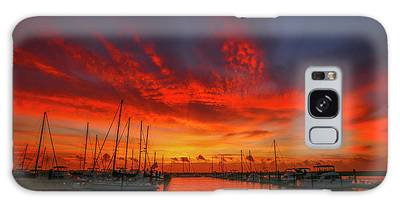 Galaxy Case featuring the photograph Marina Sunrise - Ft. Pierce by Tom Claud