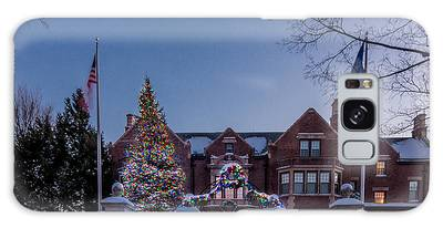 Galaxy Case featuring the photograph Christmas Lights Series #6 - Minnesota Governor's Mansion by Patti Deters