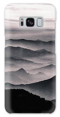 Misty Mountain Noir Galaxy Case by Susan Maxwell Schmidt