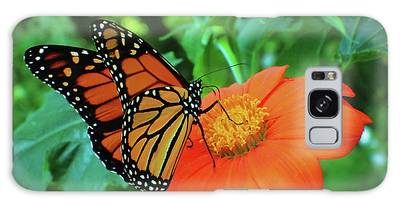 Monarch On Mexican Sunflower Galaxy Case