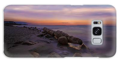 Montauk Sunset Boulders Galaxy Case