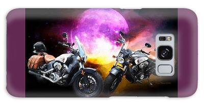 Galaxy Case featuring the photograph Moonlit Indian Motorcycle by Ericamaxine Price