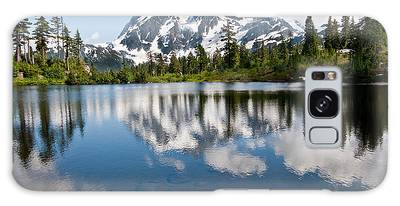 Mount Shuksan Reflected In Picture Lake Galaxy Case