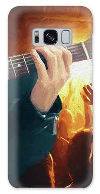 Music Soothes The Soul - Painting1 Galaxy Case by Ericamaxine Price
