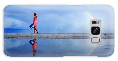 Mysterious Rainbow Girl Galaxy Case