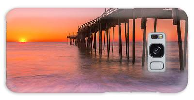 Galaxy Case featuring the photograph Nags Head Avon Fishing Pier At Sunrise by Ranjay Mitra
