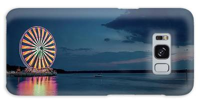 Galaxy Case featuring the photograph National Harbor Ferris Wheel by Ryan Wyckoff
