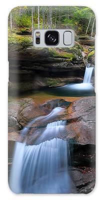 Galaxy Case featuring the photograph New Hampshire Sabbaday Falls Panorama by Ranjay Mitra
