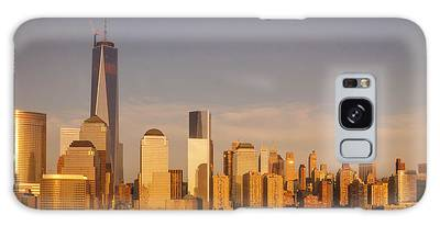 Galaxy Case featuring the photograph New World Trade Memorial Center And New York City Skyline Panorama by Ranjay Mitra