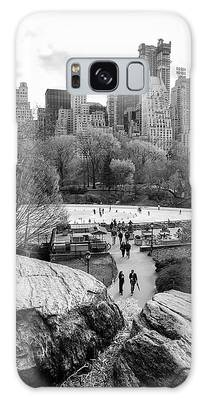 Galaxy Case featuring the photograph New York City Central Park Ice Skating by Ranjay Mitra