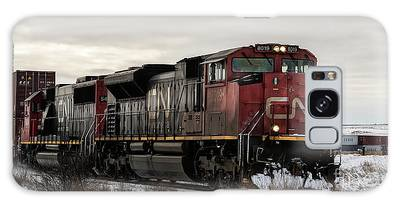 Galaxy Case featuring the photograph Northbound Double Stack by Brad Allen Fine Art
