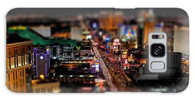 Galaxy Case featuring the photograph Not Everything Stays In Vegas - Tiltshift by Ericamaxine Price