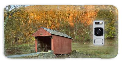 Old Red Or Walkersville Covered Bridge Galaxy Case