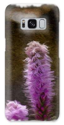 Painted Purple Flower Galaxy Case