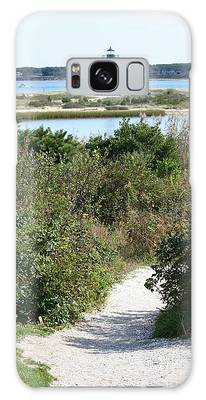 Path To Edgartown Lighthouse Galaxy Case