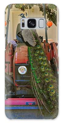 Peacock And His Ride Galaxy Case