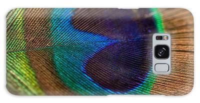 Peacock Feather Macro Detail Galaxy Case