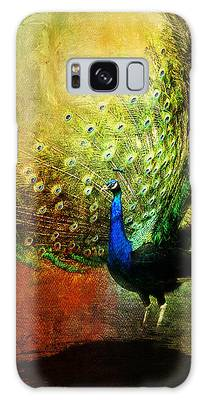Peacock In Full Color Galaxy Case