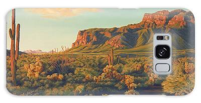 Desert Sunset Galaxy Cases