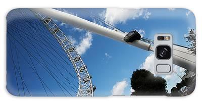 Pillar Of London S Ferris Wheel  Galaxy Case