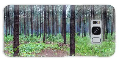 Galaxy Case featuring the photograph Pine Grove And Fog In Charlotte Nc Panorama by Ranjay Mitra
