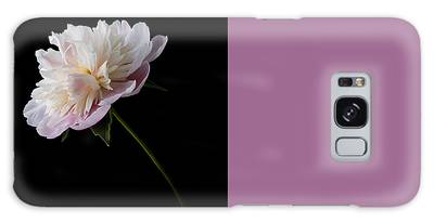 Galaxy Case featuring the photograph Pink And White Peony by Patti Deters