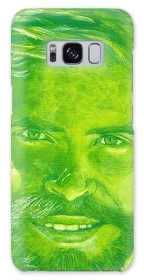 Portrait In Green Galaxy Case