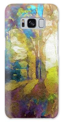 Galaxy Case featuring the painting Prismatic Forest by Susan Maxwell Schmidt