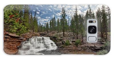 Provo River Falls Galaxy Case