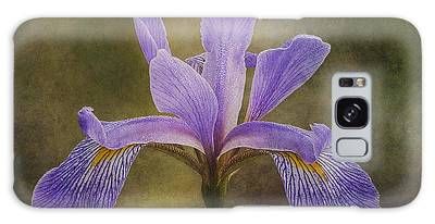 Galaxy Case featuring the photograph Purple Flag Iris by Patti Deters