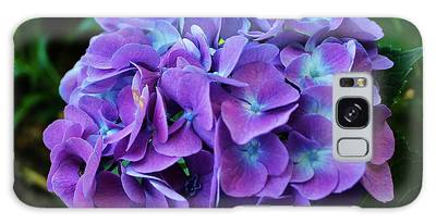 Galaxy Case featuring the photograph Purple Hydrangea by Cynthia Guinn