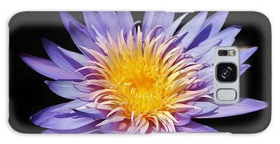 Galaxy Case featuring the photograph Purple Lotus by Cynthia Guinn