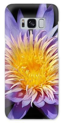 Purple Lotus Galaxy Case by Cynthia Guinn